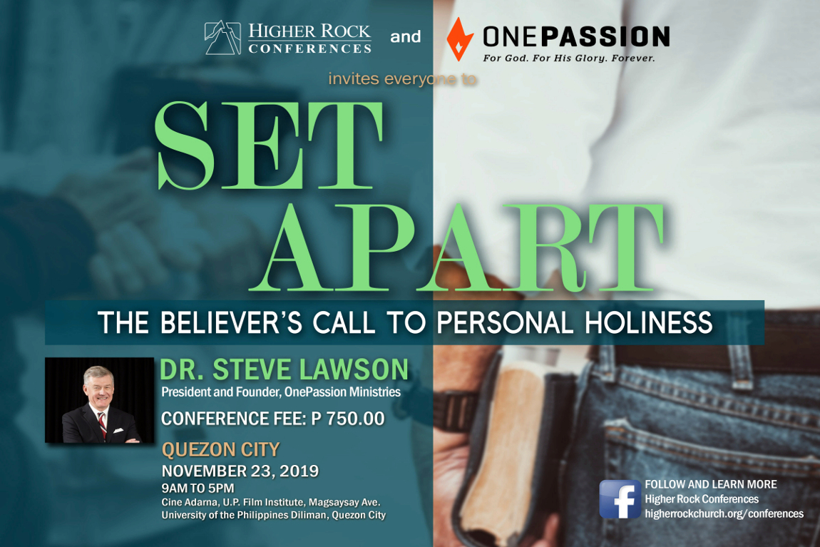 Higher Rock Conferences poster Set Apart: A Believer's Call to Holiness