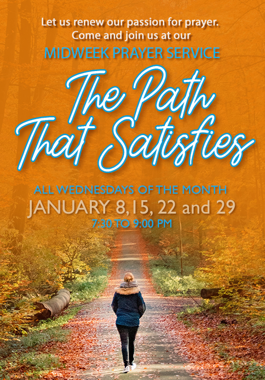 Higher Rock Christian Church Midweek Poster for January 2020 - The Path That Satisfies