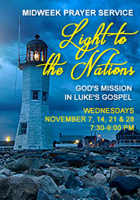 Higher Rock Christian Church Midweek Poster for November 2018 - Light to the Nations