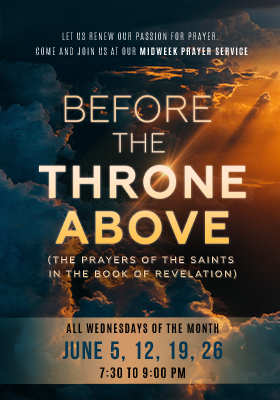 Higher Rock Christian Church Midweek Poster for June 2019 - Before the Throne of God
