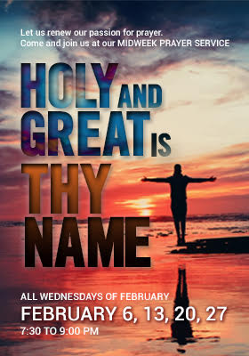 Higher Rock Christian Church Midweek Poster for February 2019 - How Great Thou Art
