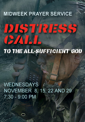 Midweek Poster for November 2017 - Distress Call