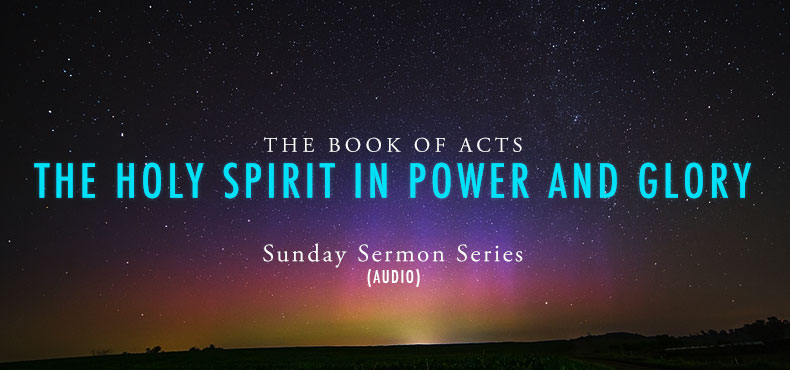 higher rock christian church the Holy Spirit in Power and Glory Poster on Book of Acts