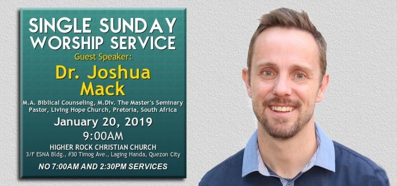 higher rock christian church announcements single worship service Pastor Joshua Mack 20Jan2019