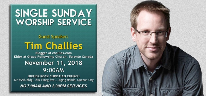 Higher Rock Christian Church Joint Worship Service Guest Tim Challies
